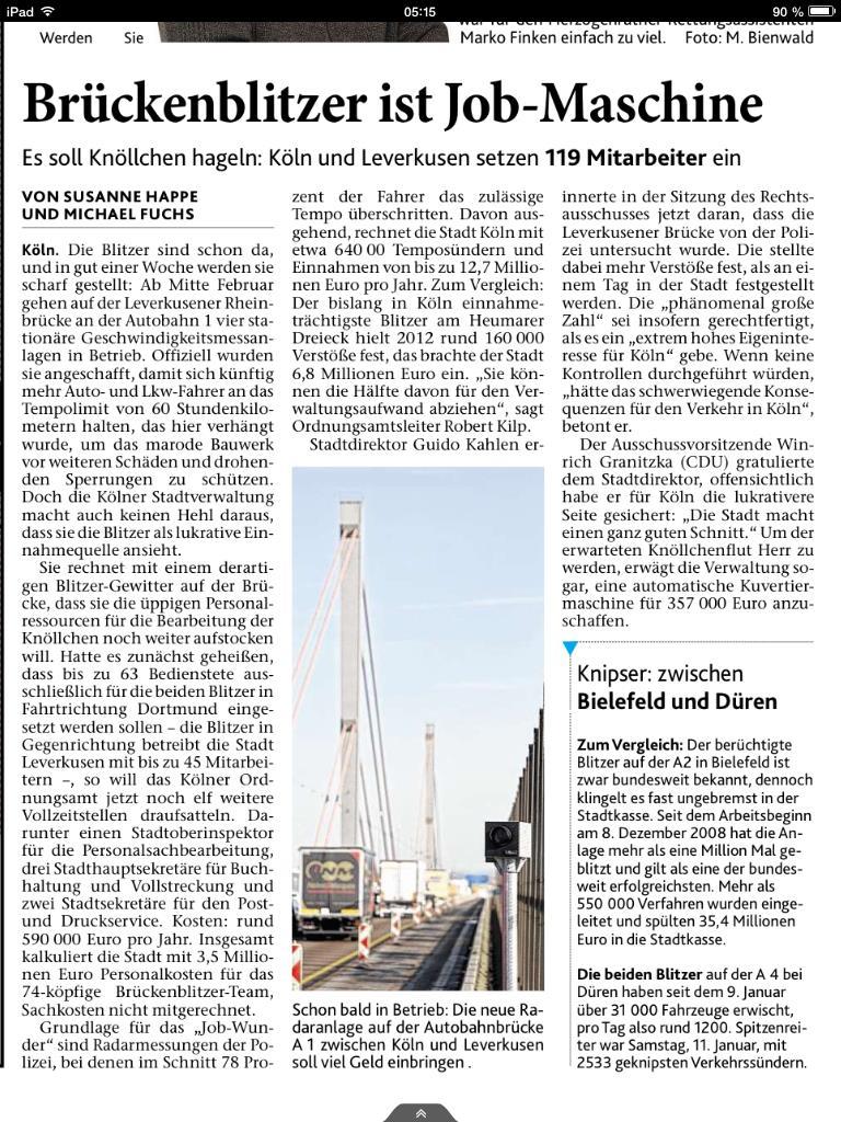 """""""Brückenblitzer ist Jobmaschine"""""""